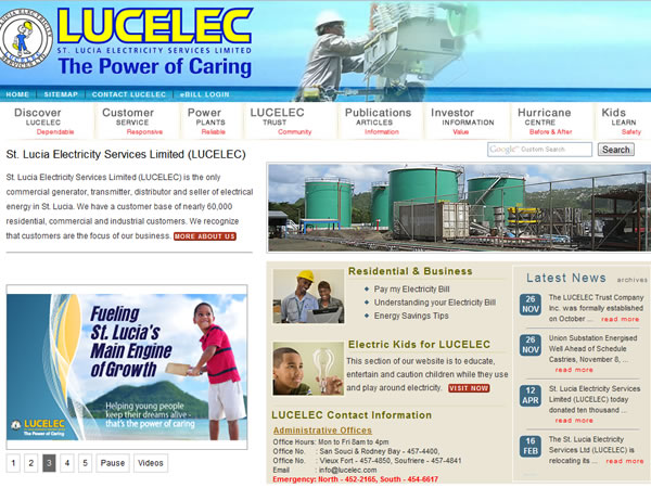 St lucia electricity services limited lucelec zipteq for Office design rules of thumb